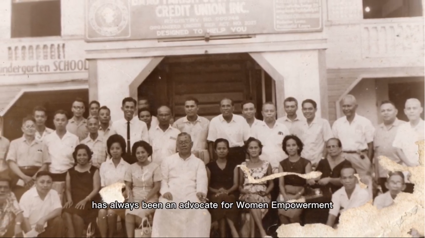 Old Photo of members with the Parish Priest.